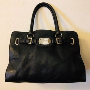 Michael Kors black leather Hamilton handbag